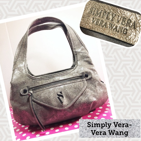 3bced095895a SIMPLY VERA-VERA WANG Metallic Textured Hobo. M 5b5892a2b6a942e5b098dfed.  Other Bags ...